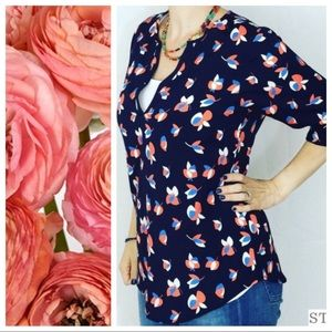 Pixley by Stitch Fix Ivy Petal Print Blouse XL NWT